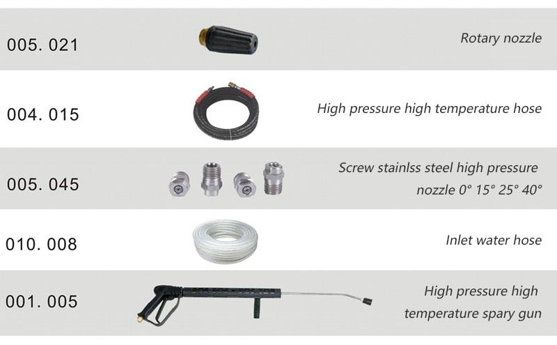 Industrial high temperature water jet cleaner high pressure